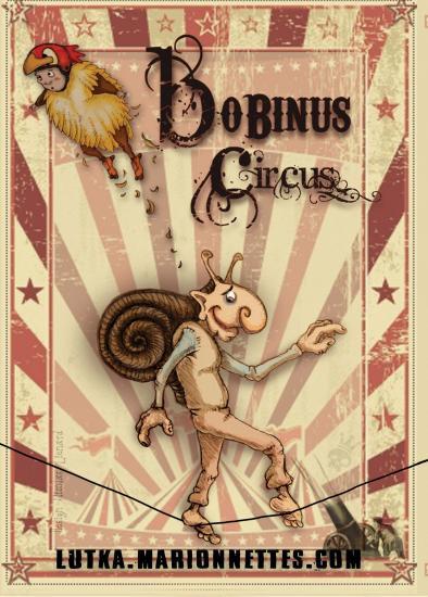 Affiche bobinus circus cie lutka marionnettes