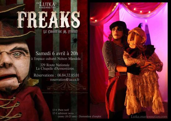 Affiche freaks lutka marionnettes la chapelle d armentieres 2019