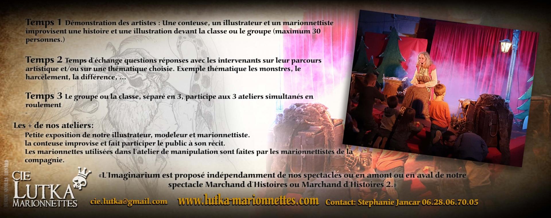 Information imaginarium atelier performance compagnie lutka Marionnettes 2