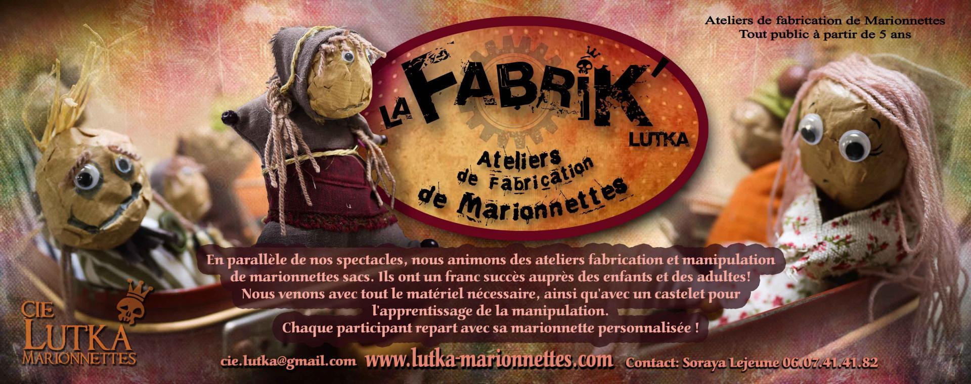 Information la fabrik lutka atelier de fabrication de marionnettes sacs compagnie lutka 2018 2
