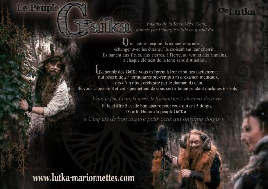Plaquette faune peulple gaika cie lutka marionnettes